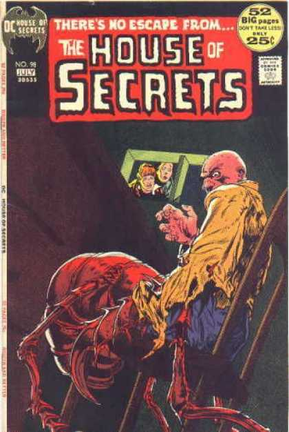 House of Secrets 98 - Bald Man - Sitting In A Chair - Giant Red Insect - Death - Underground - Michael Kaluta