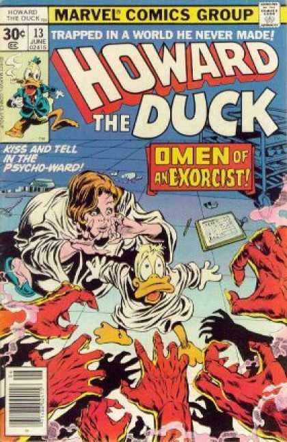 Howard the Duck 13 - Psycho Ward - Omen Of An Exorcist - Scary - Reaching Hands - Trapped - Gene Colan