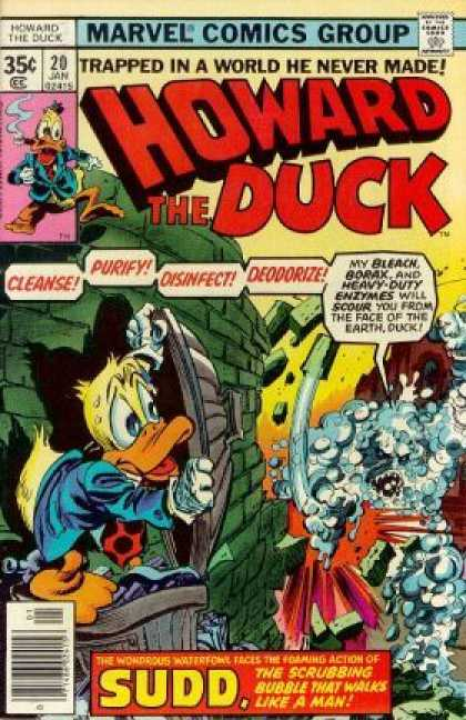 Howard the Duck 20 - Duck - Trapped In A World He Never Made - 20 Jan - Garbage Can - Wall