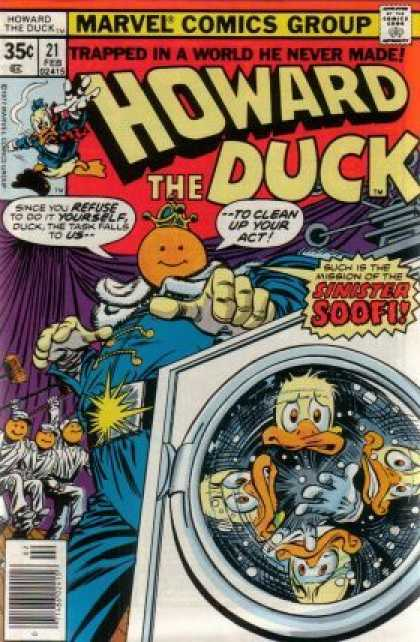 Howard the Duck 21 - Marvel Comics Group - Sinister Soofi - Ducks - Washing Machine - Trapped In A World He Never Made