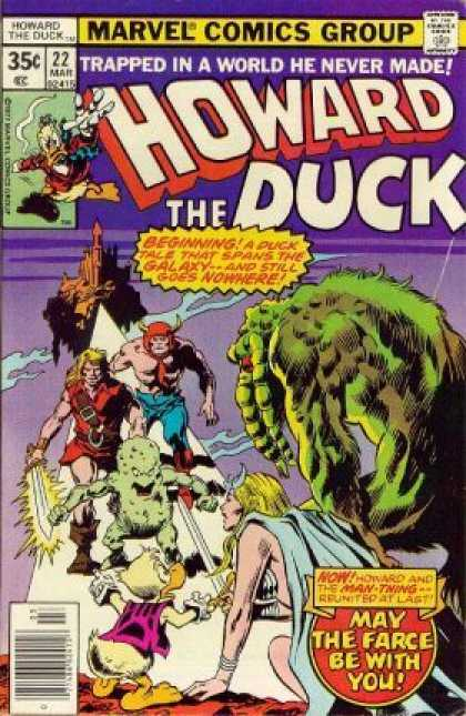 Howard the Duck 22 - Marvel Comics Group - Duck Tale - Trapped In A World - Castle - Monster - Gene Colan
