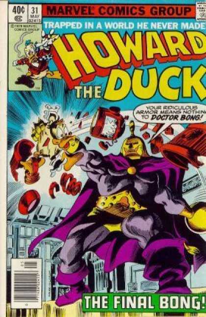 Howard the Duck 31 - Marvel Comics Group - Approved By The Comics Code - Trapped In A World He Never Made - Doctor Bong - Robot - Gene Colan