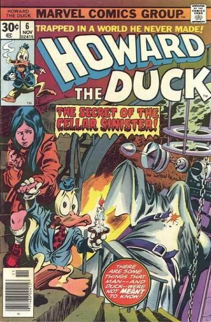 Howard the Duck 6 - Marvel Comics - 30 Cents - Comics Code Authority - Secret Of The Cellar Sinister - Cigar - Gene Colan