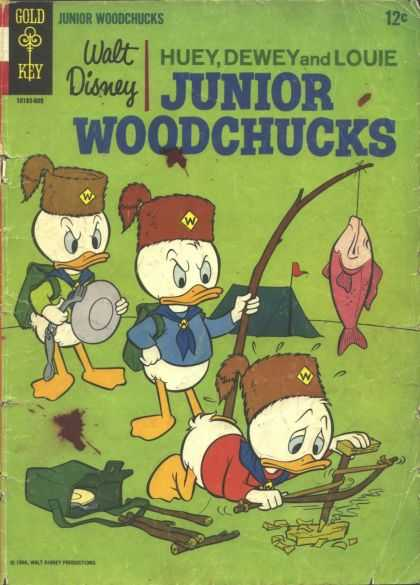 Huey, Dewey and Louie: Junior Woodchucks 1 - Walt Disney - Gold Key - Junior Woodchucks - Fish - Water