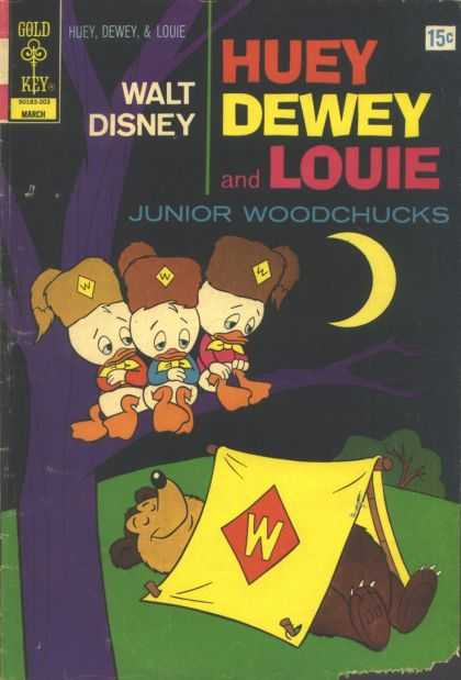 Huey, Dewey and Louie: Junior Woodchucks 13 - Camping - Tent - Bear - Night - Moon
