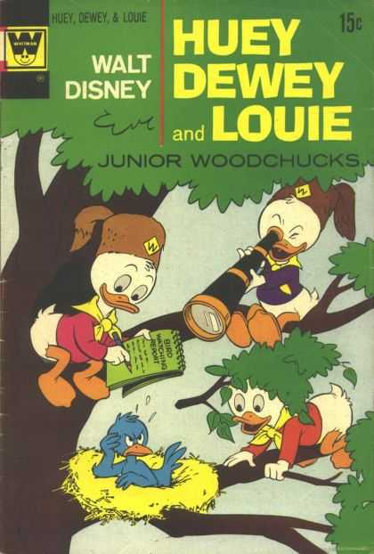 Huey, Dewey and Louie: Junior Woodchucks 15 - Telescope - Tree - Leaves - Pen - Notebook