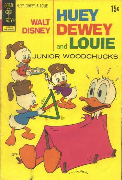 Huey, Dewey and Louie: Junior Woodchucks 16 - Disney - Gold Key - Tent - Donald Duck - Eggs