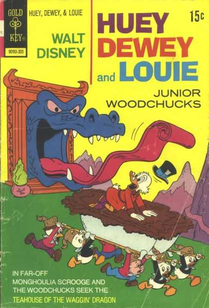 Huey, Dewey and Louie: Junior Woodchucks 19 - Walt Disney - Huey Dewey And Louie - Junior Woodchucks - Gold Key - Teahouse Of The Waggin Dragon