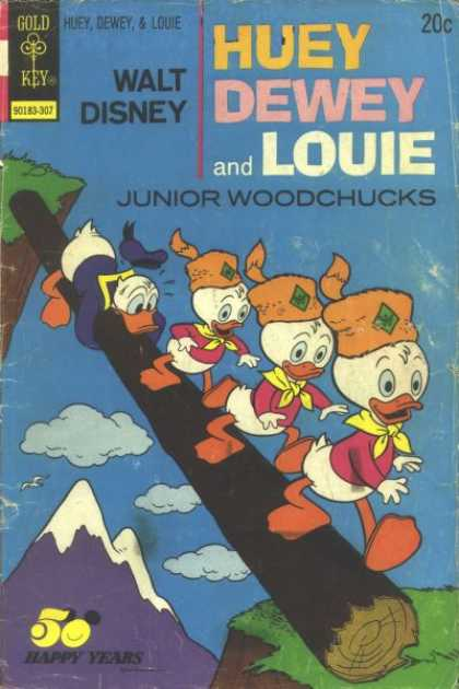 Huey, Dewey and Louie: Junior Woodchucks 21 - Walt Disney - Gold Key - Happy Years - Wood - Sky