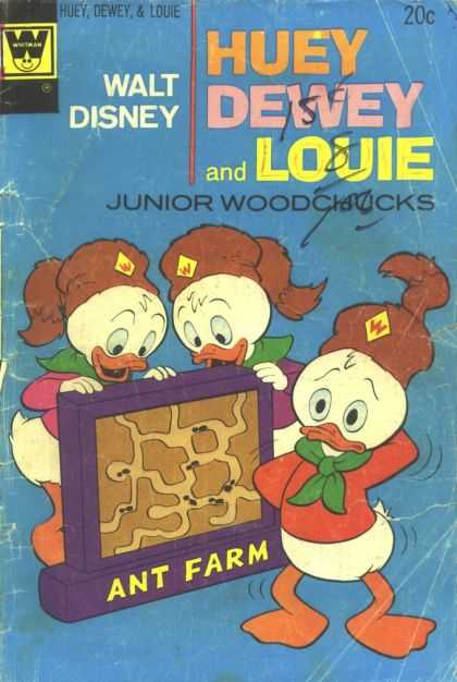 Huey, Dewey and Louie: Junior Woodchucks 25 - Ant Farm - Walt Disney - Ducks - Junior Woodchucks - Fair Condition