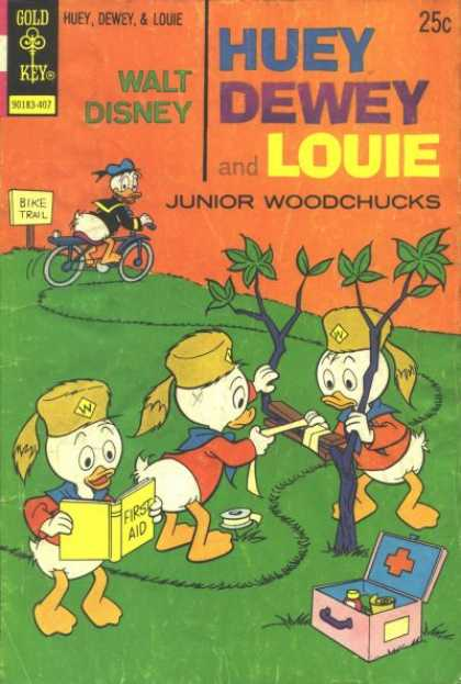 Huey, Dewey and Louie: Junior Woodchucks 27 - Gold Key - Bike Trail - Walt Disney - Junior Woodchucks - First Aid