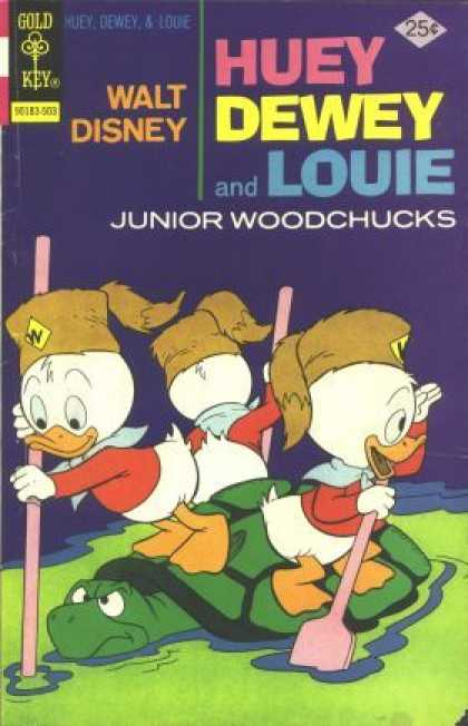 Huey, Dewey and Louie: Junior Woodchucks 31 - Turtle - Swamp - Oars - Fur Hat - Kerchief