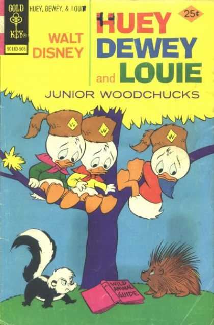 Huey, Dewey and Louie: Junior Woodchucks 32 - Ducks - Skunk - Junior Woodchucks - Wild Animal Guide - 3 Ducks In A Tree