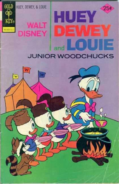Huey, Dewey and Louie: Junior Woodchucks 35 - Tent - Ducks - Fire - Flag - Wood