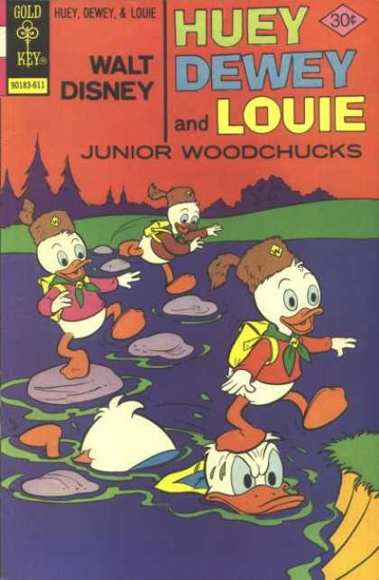 Huey, Dewey and Louie: Junior Woodchucks 41 - Junior Woodchucks - Backpack - Trees - Donald - Lake