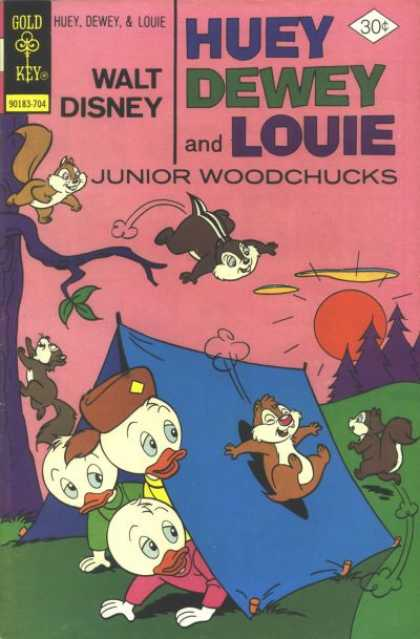 Huey, Dewey and Louie: Junior Woodchucks 43 - Chip Monks - Ducks - Tree - Tent - Sun