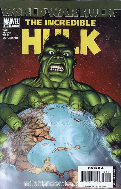 Hulk (2000) 106 - Demoltion Of The Earth - Angry Incredibel Hulk - 4 Authors - Direct Edition - Late 1990s Early 2000s - Gary Frank