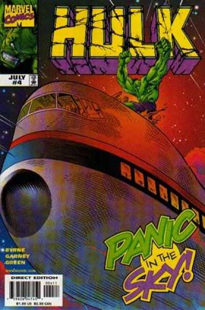 Hulk (2000) 4 - Marvel Comics - July - Panic In The Sky - Purple Shorts - Byrne