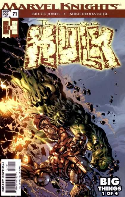 Hulk (2000) 71 - Big Things - Rocks - Mountain - Hulk - Marvil - Deodato Fiho