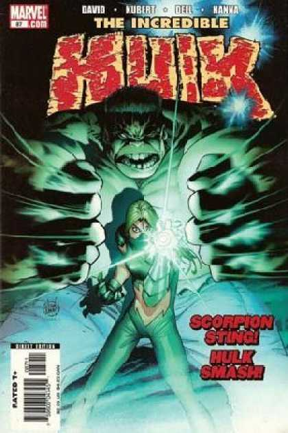 Hulk (2000) 87 - Marvel - David - The Incredible - Scorpion Sting - Glowing Light - Adam Kubert, Laura Martin
