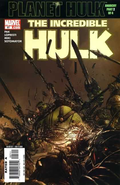 Hulk (2000) 97 - Sword - Spear - Battle - Incredible - Green - Jose Ladronn