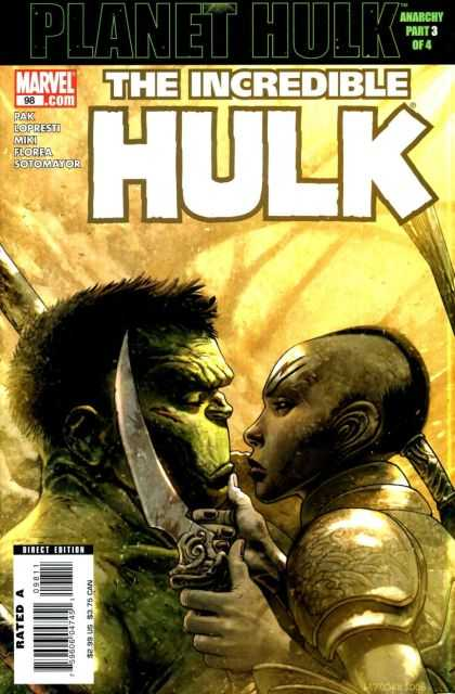 Hulk (2000) 98 - Anarchy Part 3 Of 4 - Knife - Warrior - Direct Edition - Rated A - Jose Ladronn