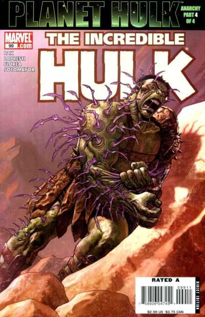 Hulk (2000) 99 - Marvel - Cliff - Mountains - Mouth Open - Purple Veins - Jose Ladronn
