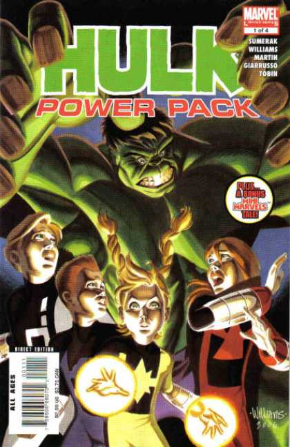 Hulk and Power Pack 1 - Marvel Comics - Mimi Marvels - Little Children - Green Monster - Sumerak