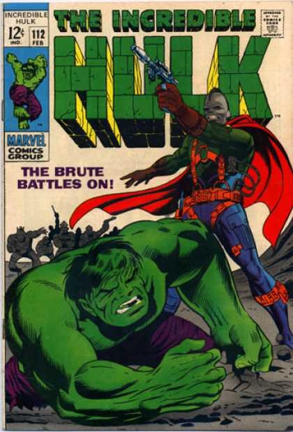 Hulk 112 - Brute - Gun - The Incredible - Approved By The Comics Code Authority - Marvel Comics Group