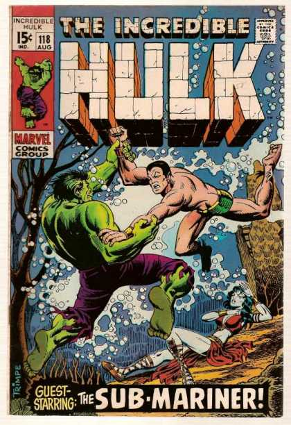 Hulk 118 - Mermaid Of Deception - Stealth Bubbles - Traveling Down Current - Green Titanic Sinks - Fighting For Air