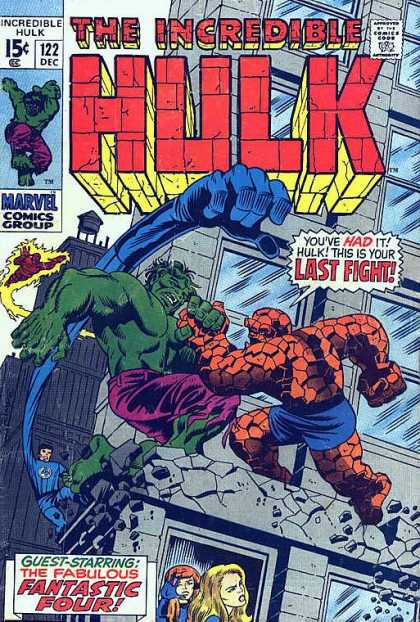 Hulk 122 - Thing - Kablow - Its Clobbering Time - Betrayed - Is It All Over