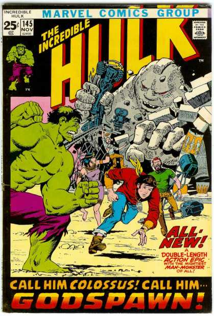 Hulk 145 - Muscles - Super Human Strength - Colossus - Green - Destroy