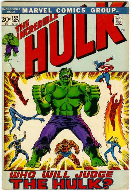 Hulk 152 - Daredevil - Captain America - Human Torch - Thing - Mr Fantastic