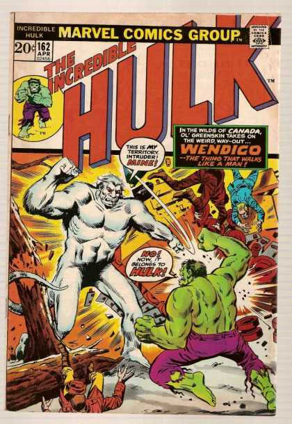 Hulk 162 - Purple Pants - Marvel Comics Group - 162 Apr - The Thing That Walks Like A Man - Green Man