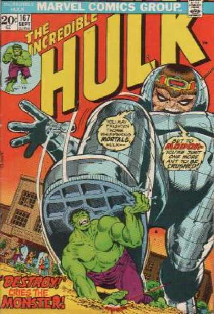 Hulk 167 - Marvel - Mortals - Robot - Destroy - Monsters