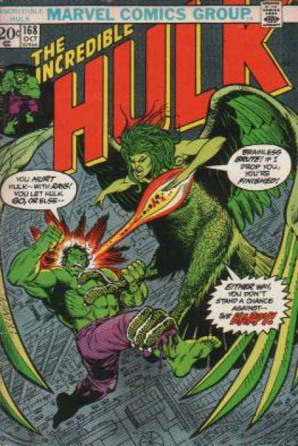 Hulk 168 - Harpy - Flying - Rays - Brute - Battle