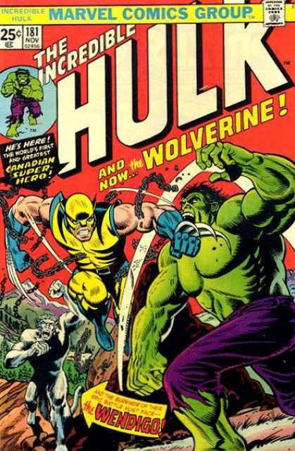 Hulk 181 - Chains - Wolverine - Wendigo - Claws - The Incredible Hulk