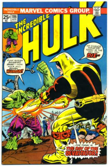Hulk 186 - Marvel - Ithe Incredible - Human - Monster - The Day Of The Devastator
