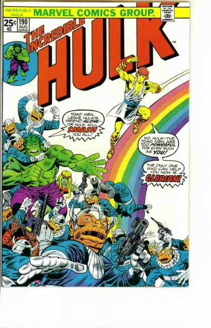 Hulk 190 - Toad Men - Glorian - Rainbow - Smash - Marvel Comics Group