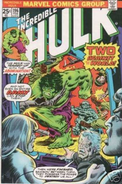Hulk 196 - Abomination - Army - Doc Samson - Marvel - Two Against The World
