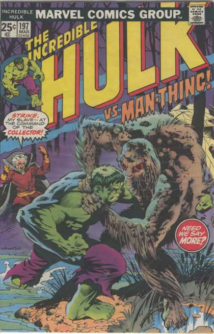 Hulk 197 - Man-thing - Collector - Bernie Wrightson