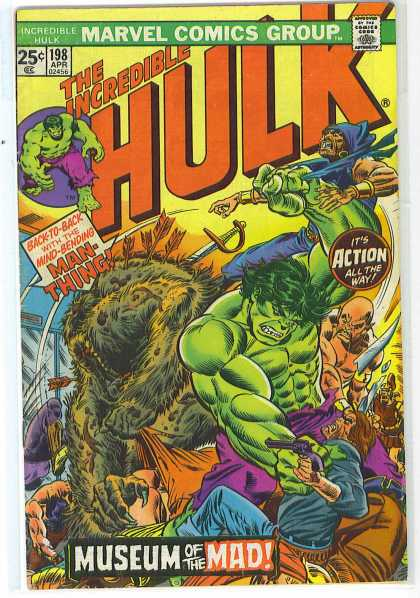 Hulk 198 - Man-thing - Marvel - Marvel Comics - The Incredible Hulk - Museum Of The Mad