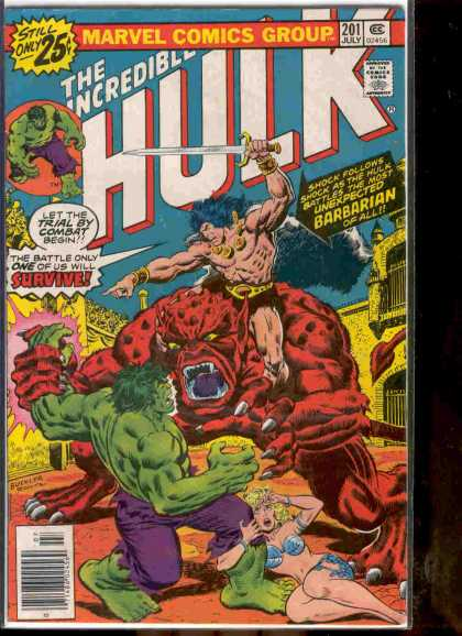 Hulk 201 - Marvel - Sword - Green - Muscles - Barbarian - Richard Buckler