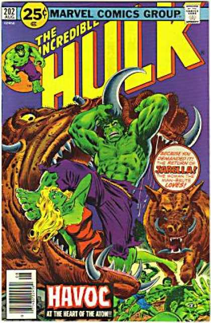 Hulk 202 - Havoc - Jarella - Horned Monsters - Green Body - Female - Richard Buckler