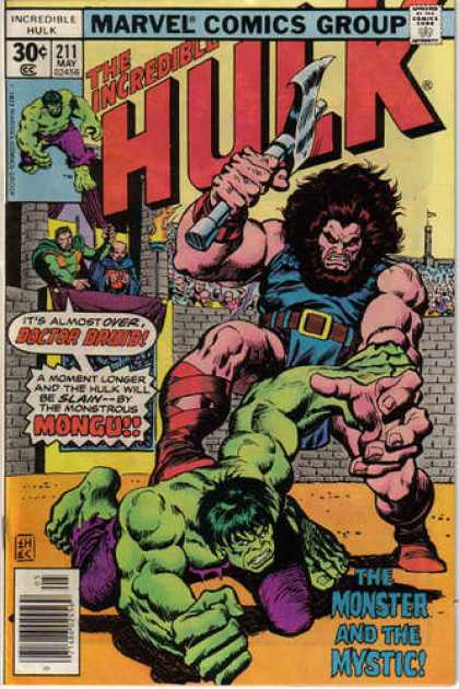 Hulk 211 - Doctor Druid - Mongu - Axe - Battle Axe - The Monster And The Mystic - Ernie Chan
