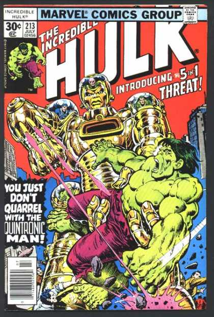 Hulk 213 - Robot - Giant - Weapon - Explosion - Monster - Ernie Chan