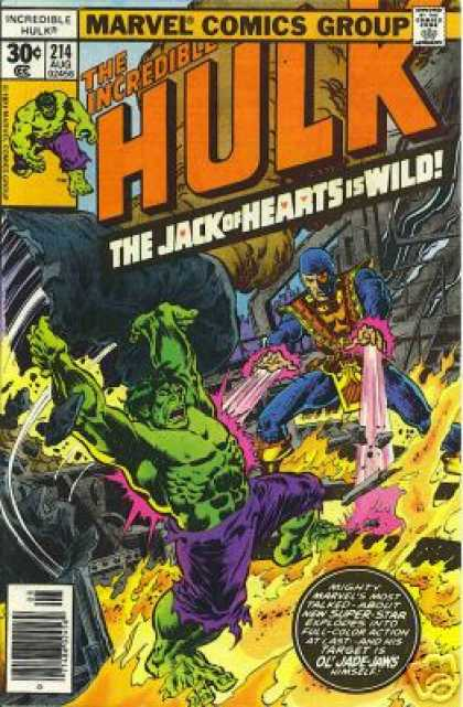Hulk 214 - Jack Of Hearts - Marvel Comics Group - Incredible - Superhero - Mutant - Ernie Chan