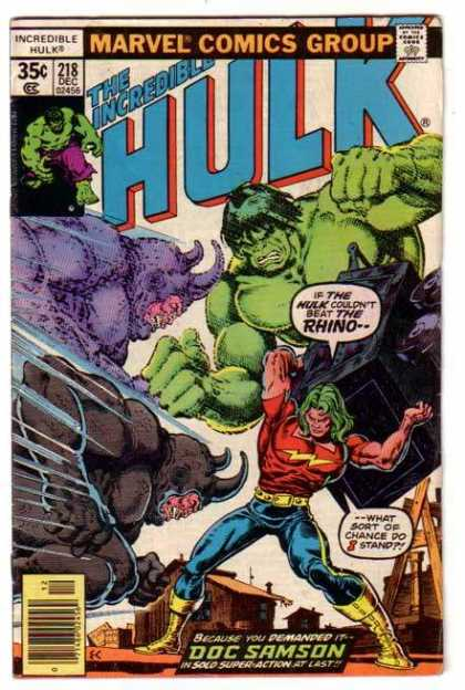 Hulk 218 - Fight - Fly - Monster - Horn - Body - Ernie Chan