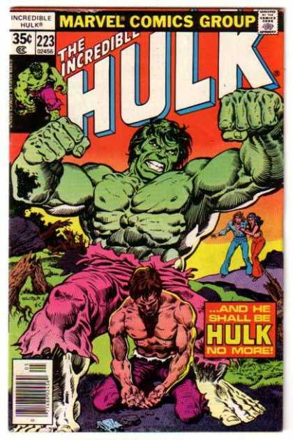 Hulk 223 - Bruce Banner - Marvel Comics - Incredible Hulk - Sunset Background - He Shall Be Hulk No More