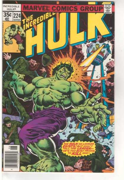Hulk 224 - Comics Code - Hulk - Green Mutant - Monster - Battle - Ernie Chan